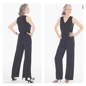 Chico's knit polka dot jumpsuit Chico's size 4